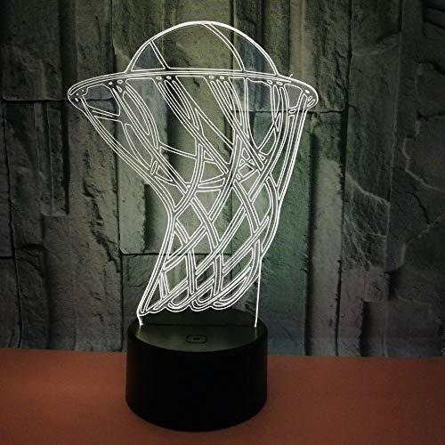 Lámpara de baloncesto 3d lámpara de mesa deportiva lámpara de mesa 3d de decoración navideña