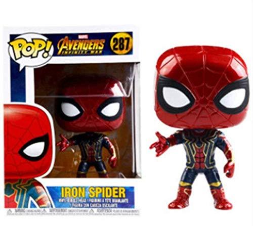 Pop Captain America Harley Quinn Black Widow Avengers 3 Iron Man Q Version d'action-# 287 Spiderman