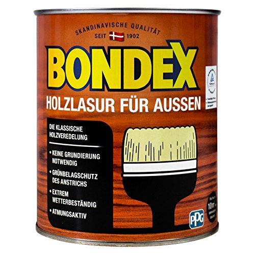 BONDEX Holzlasur für Aussen, kastanie 0,75 Liter