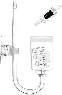 Senzeal ガラス製 スパイラルCO2拡散器 水草水槽用 水槽アクセサリツール 螺旋型CO2ディフューザー 逆流防止弁付き