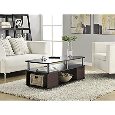 Ameriwood Home 5094196 Carson Coffee Table, Cherry/Black