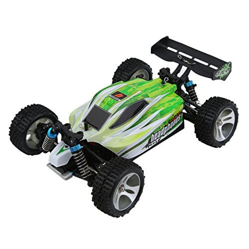 WLtoys A959B High Speed 43.5mph(70km/h) Buggy Off Road RC Car | Almost Ready 1:18 4WD Racing Cars w/ 2.4G Radio Remote Control & Charger (540 Brush Motor)