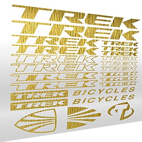 Etiqueta engomada de automóvil Vinilo de vinilo Die-Cut CUCHE CUCHE CUCHO TOMBILES ETIQUETA STICKET SET RACE RAY STYLING PARA TREK BICICLE Frame MTB BMX (Color Name : Brushed Gold)