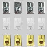 Byour3 - Ganchos adhesivos para barras extensibles con muelle de doble presión...