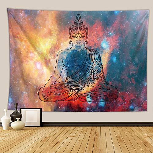 PPOU Tapiz Colgante de Pared patrón psicodélico Alfombra de Tiro de Yoga Hippie decoración del hogar Tapiz de Pared Video en Vivo Fondo A4 73x95cm