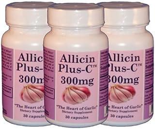 AllicinPlus-C™ 3-Pack 300mg of Garlic Allicin - Vegetarian Capsules