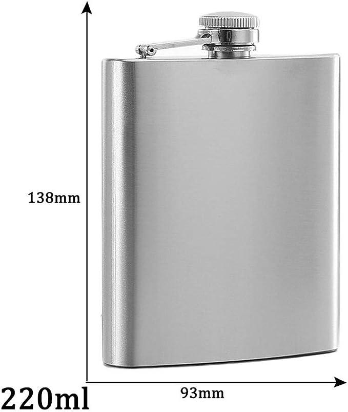 Color : Alcohol Flasque A Alcoo Portable en acier inoxydable 304 Flasque 4 oz Mini M/étal Whisky Pot 100 ml Alcohol Container Pocket Whisky Flask Flasque