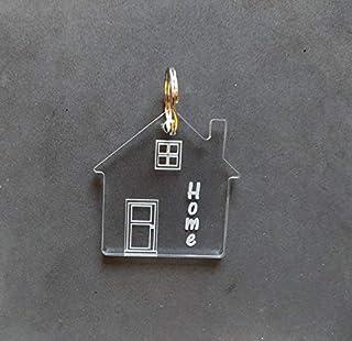Portachiavi casa home per lui e per lei in plexiglass Porta chiavi originale Idea regalo Natale trasloco casa nuova