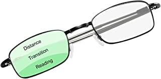 Transition Photochromic Progressive Multifocus Computer Reading Glasses Blue Light Blocking Multifocal Sun Readers Eyeglasses Anti Glare Eye Strain Light Weight UV400 Sunglasses Eyewear for Men Women