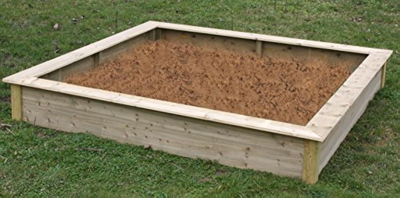 Elmato 13709 Sandkasten XL gro kesseldruckimprgniert (220x220x30 cm)