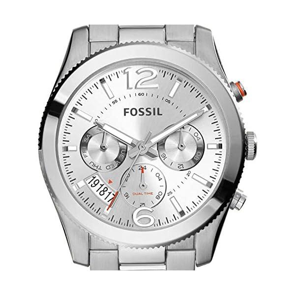 Fossil Boyfriend, Reloj analógica para Mujer con Caja y Correa en Acero
