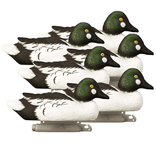 Higdon Outdoors Standard Goldeneye Duck Decoys, Foam Filled, Drakes