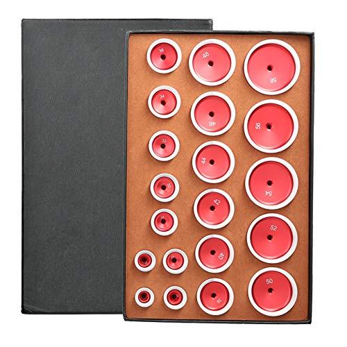 Reloj Press Set, 20 Piezas AleacióN de Aluminio Matrices de MáQuina Taponadora 12 Mm / 0,5 Pulgadas CóNcavas ver Herramienta de Reemplazo de BateríA para Relojeros