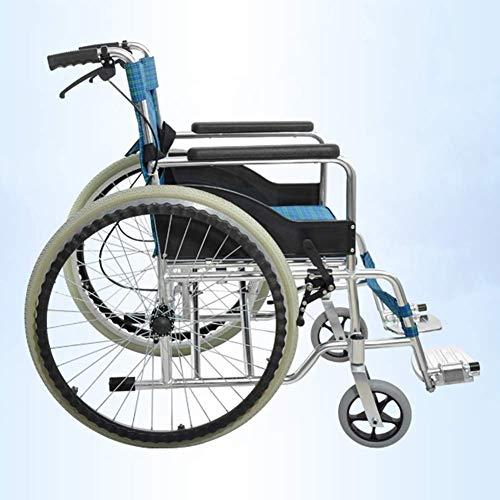 YEESEU. Leichte faltrollstuhl Driving Medical, Thick Aluminiumlegierung Doppelbremse Rollstuhl Folding Leichtgewicht mit WC Elderly Rollstuhl tragbare Reise Rollstuhl Fdg