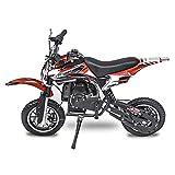 Fit Right 2020 DB001 49CC 2-Stroke Kids Dirt Off Road Mini Dirt Bike, Kid Gas Powered Dirt Bike Off Road Motorcycle (RED)