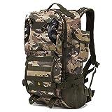 LIXIYU Tactical Backpack Trekking Rucksäcke 40l für Männer und Frauen Bergsteigen Rucksack Camping Rucksack für Camping Outdoor-Trekking,cp Camouflage -OneSize