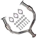 cciyu Stainless Steel Exhaust Manifold Kit Fits 08-14 Nissan 370Z Z34 G37 V36