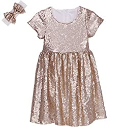 Champagne Toddlers Sequin Dress