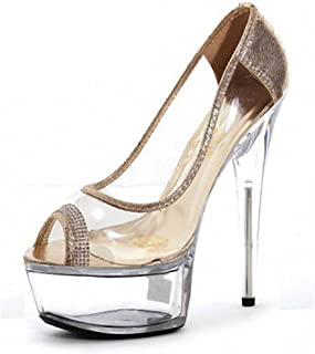 PeepToe Platform Sandals,Crystal StilettoHeel,for Shopping, Travelling, Working, Wedding Party And So Many Occasions(35-46)