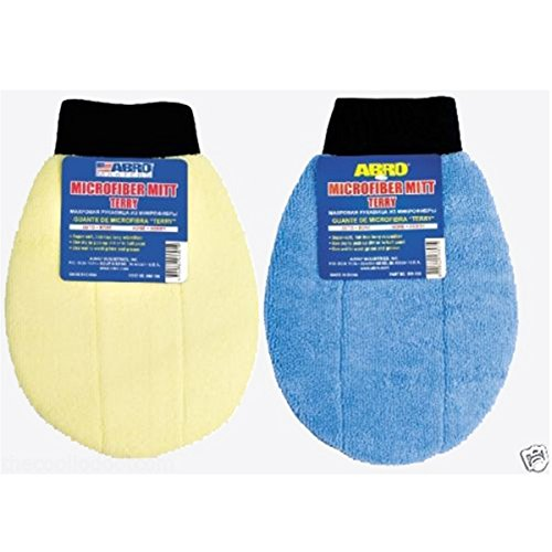 Indian Fancy Abro Microfiber Mitt Terry Mm-180 Best for Auto Detailing, Professional Cleaning, Mobile Car Washing, Do It Yourself Hand Wash, Chemical Free Washing, Protect Your Investment - Lifetime Guarantee!