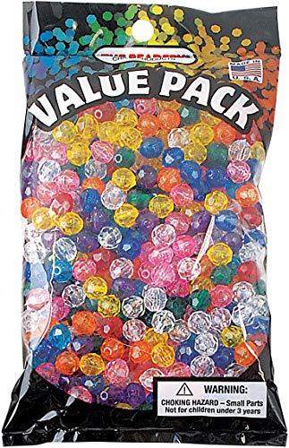 Beadery 710V029 Plastic Faceted Beads 8mm 900/Pkg-Multicolor