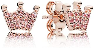 Pandora Enchanted Crown Rose Gold One Size Earring 287127NPO