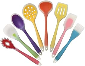 Cooking Utensils Kitchenware Silicone Heat Resistant Kitchen Cooking Utensils Non-Stick Baking Tool Cooking Tool Set (Colo...