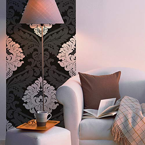 Livingwalls 955661 selbstklebendes Pop.up Panel 3D Tapete, Schwarz, Weiß