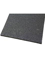 acerto 31152 Base de la lavadora hecha de granulados de goma - 60 x 60 x 10mm * Robusta * Alta densidad * Uso versátil   Base de la lavadora con amortiguación de vibraciones alfombra de granulado