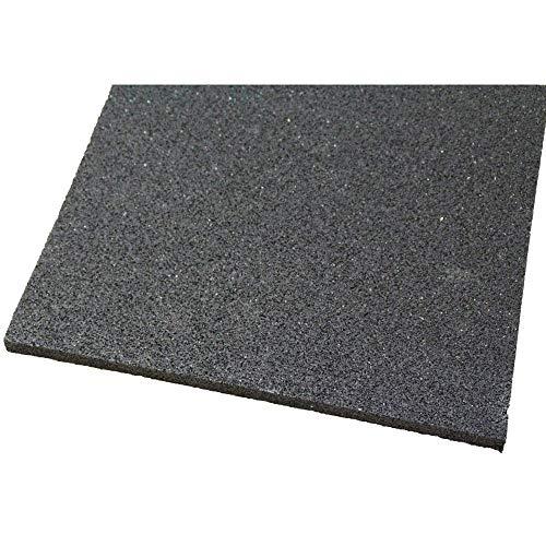 acerto 31152 Base de la lavadora hecha de granulados de goma - 60 x 60 x 10mm * Robusta * Alta densidad * Uso versátil | Base de la lavadora con amortiguación de vibraciones alfombra de granulado