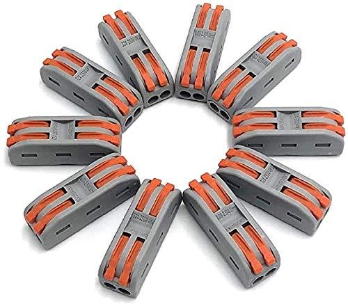 Shentian 10Stück Multifunktion 2Way 4Port Verbindungsklemme, Compact Conductors Klemmenblock, Docking-Anschluss für Kabelstecker