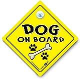 Dog on board Dog on board, Auto Schild, Aufschrift 'Baby on board' -Schild Stil, Autoaufkleber Stil, Hund im Auto, Hund im Fahrzeug, süßen Schild 'Baby on board'