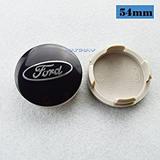Hanway 4 pcs black logo emblem 54mm ford Wheel Center Caps Hubcaps For FORD Focus 2 Focus 3 FIESTA Kuga FUSION ESCAPE EDGE