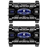 Planet Audio PC10F 10 Farad Car Audio Power Capacitor Cap Digital LED (2 Pack)