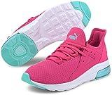 Puma - Womens Electron Street Shoes, Size: 6 B(M) US, Color: Glowing Pink/Aruba Blue/Puma White