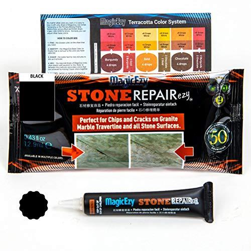 MagicEzy Stone RepairezyTM - Stone Fix - Granit und Marmor Rissreparaturset - Füllt und Farben schnell, schwarz