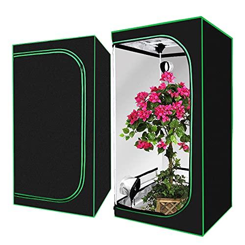 Bilisder Growbox für Homegrow Growzelt 80x80x160cm Indoor Anbauzelt Zuchtzelte Zuchtschrank Grow Zelt für Homegrowing Pflanzenzucht Ganzjährige Pflanze (80x80x160)