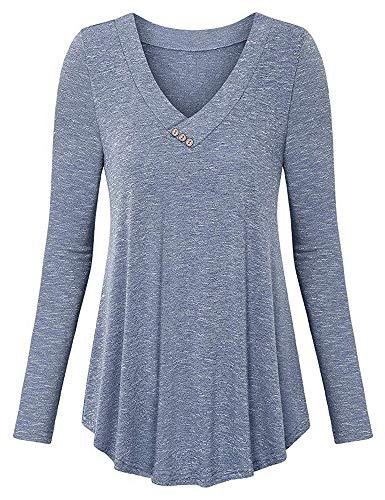 Herbst Und Winter Neues Damen-Langarm-T-Shirt Mit V-Ausschnitt Und Langen ÄRmeln
