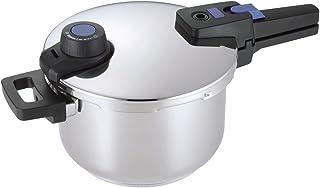 パール金属 圧力鍋 ステンレス 3.5L IH対応 3層底 切り替え式 プレミアムクイックエコ HB-3294