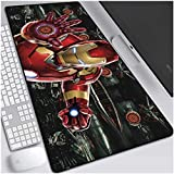 Tappetino Mouse Gaming Grande Iron Man Gaming Mouse Pad Large Mouse Mat Game Tastiera Tastiera Tastiera caffè Mat Mat ESTERDED Mousepad per Computer PC Mouse Pad (Color : 1, Size : 900 * 400 * 3mm)