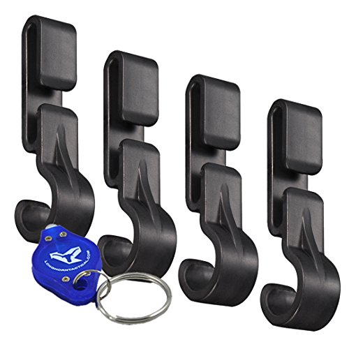 NITECORE NHC10 Headlamp Helmet Clips - 4pk for Hard Hats with Thin/No Edge plus Lumen Tactical Keychain Light - Works with HC60, HC70, HC50, HC30 and More!