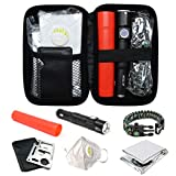 Max Torch Car Emergency Disaster Survival Kit, 6-in-1 Outdoor Survival Tools with Window Breaker and Multi-Functional LED Light for Camping Hunting Home Car Emergencies and Earthquake