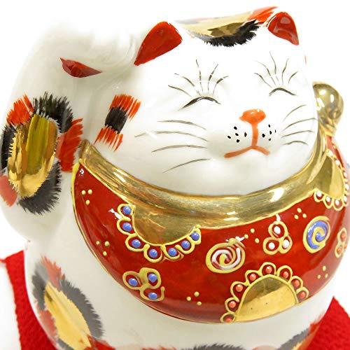 開運 置物 九谷焼 招き猫 金三毛 陶器 商売繁盛 アイテム 風水 グッズ