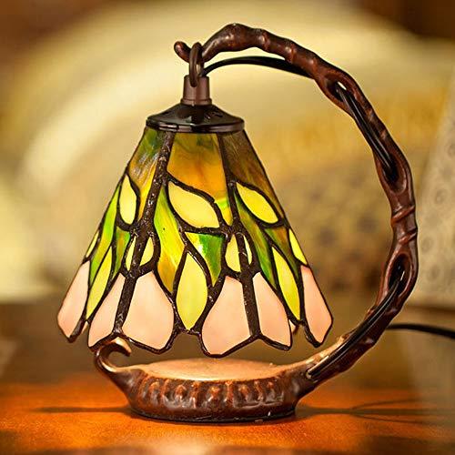 KK Timo Lámpara De Mesa Tiffany Style Resina Vidrio Restauración Natural Maneras Antiguas W15 * H20CM