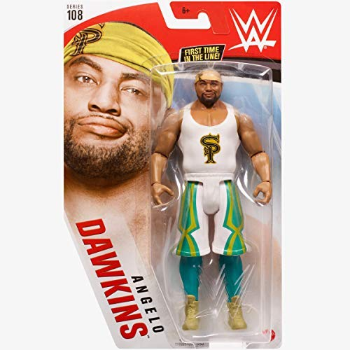 COLLECTOR WWE - Series 108 Angelo Dawkins - Action Figure, bring home the action of the WWE - Approx 6'