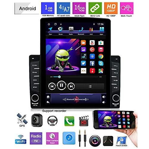 Domilay 9,7 Zoll Vertikaler Bildschirm 1Din Quad Kern Android 9,1 HD 2,5D 2Gb + 32Gb Auto Mp5 Spieler Bt Stereo FM Radio GPS Navigation