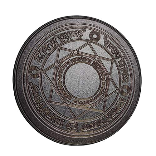 William-Lee Universal Creative Magic Circle Matrix Round 10 W Wireless Charger Dock Stand Pad Glowing Portable Power Charger Source für Smartphone, plastik, Schwarz , 10cm(3.94in)(approx)