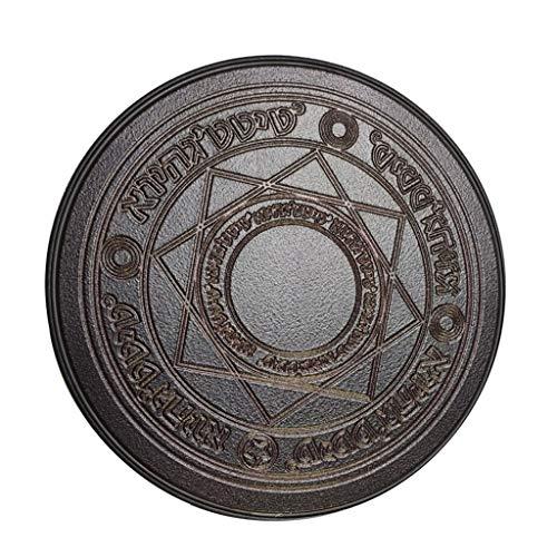 Aawsome Creative Magic Circle Matrix Rundes kabelloses Ladegerät Ständer Pad Universal 10 W leuchtend tragbare Stromquelle für Smartphone Schwarz