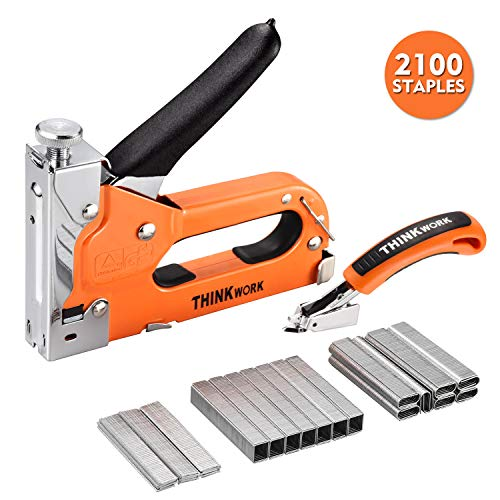 THINKWORK 3-in-1 Staple Gun, Nailer Gun with 2100 Staples...
