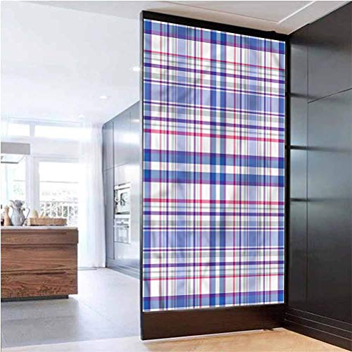 Glass Film Bureau Office Privacy Glass Film,Country Style Soft,Non Adhesive for Privacy Office W 17.7' x L 78.7'